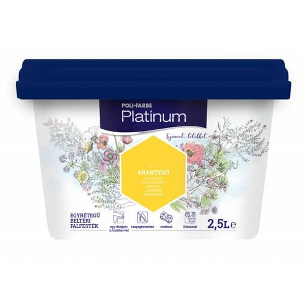 Poli-farbe Platinum beltéri falfesték, 2,5 Literes kiszerelés
