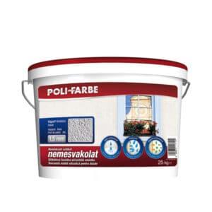 Poli-farbe szilikát nemesvakolat, 1,5 mm kapart szemcsés, 25 kg-os kiszerelés